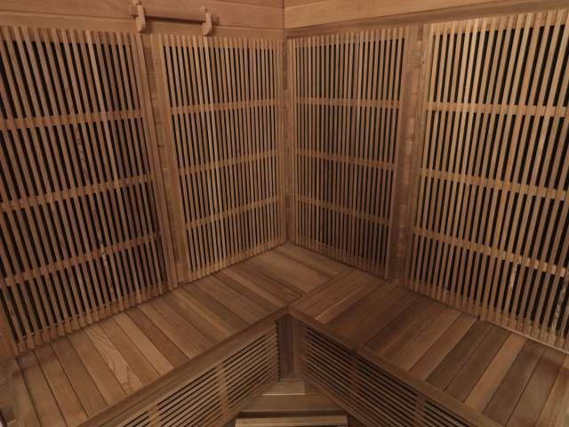 infrared sauna inside